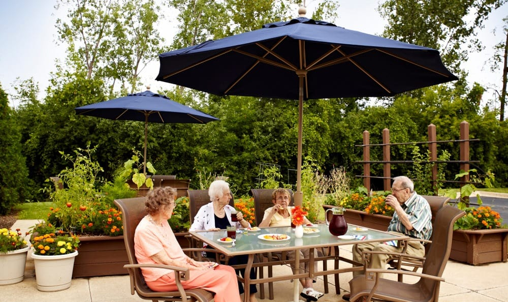 Relax On The Patio At Senior Living In Troy, MI