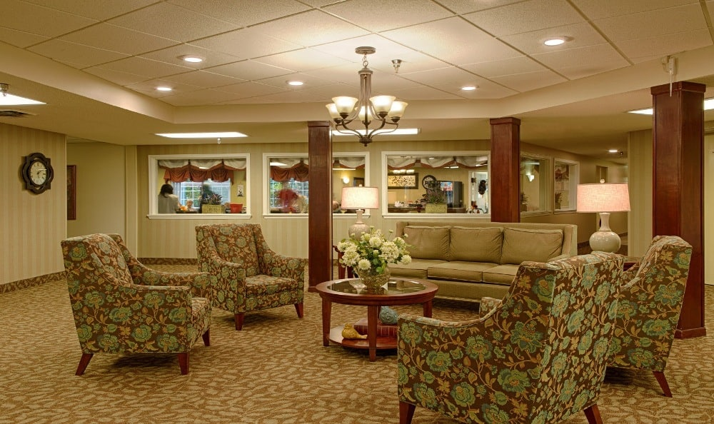 Beautiful Lobby At Senior Living In Westland, MI