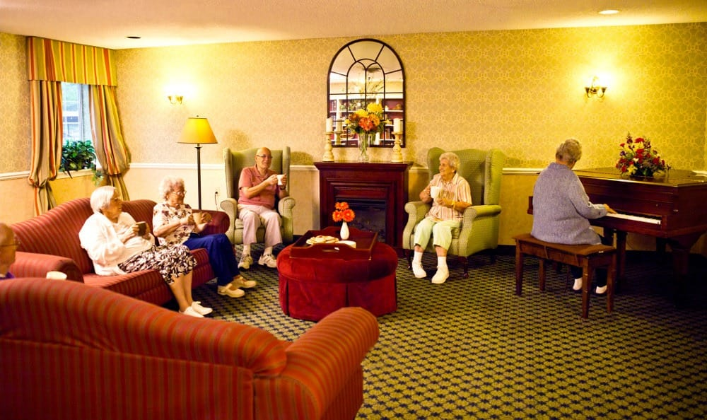 Friends Enjoying Each Other's Company At Senior Living in Westland, MI