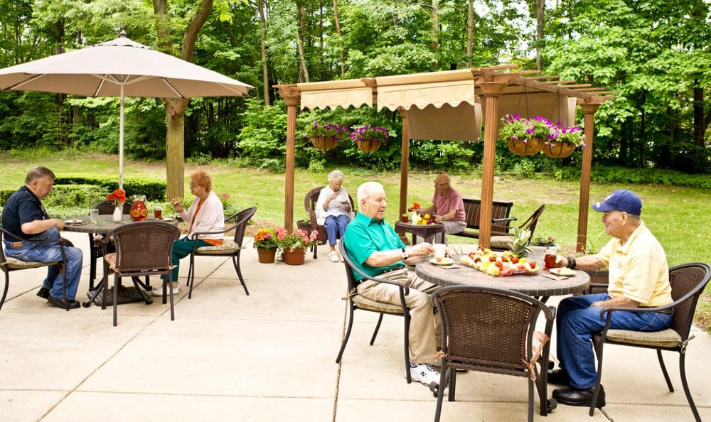 Relax On The Patio At Senior Living in Westland, MI