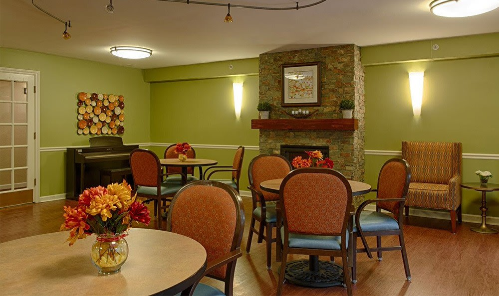 Relax in the Cafe At Senior Living In Westland,