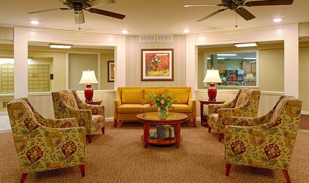 You'll Find a Cozy Lobby At Senior Living In Westland,