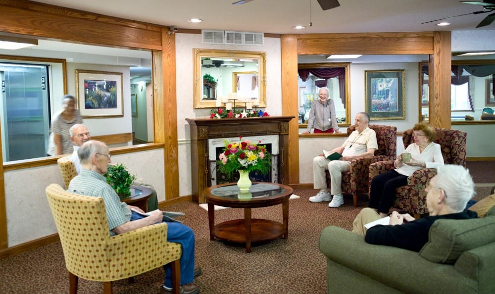 Relax By the Fire At Senior Living in Westland, MI