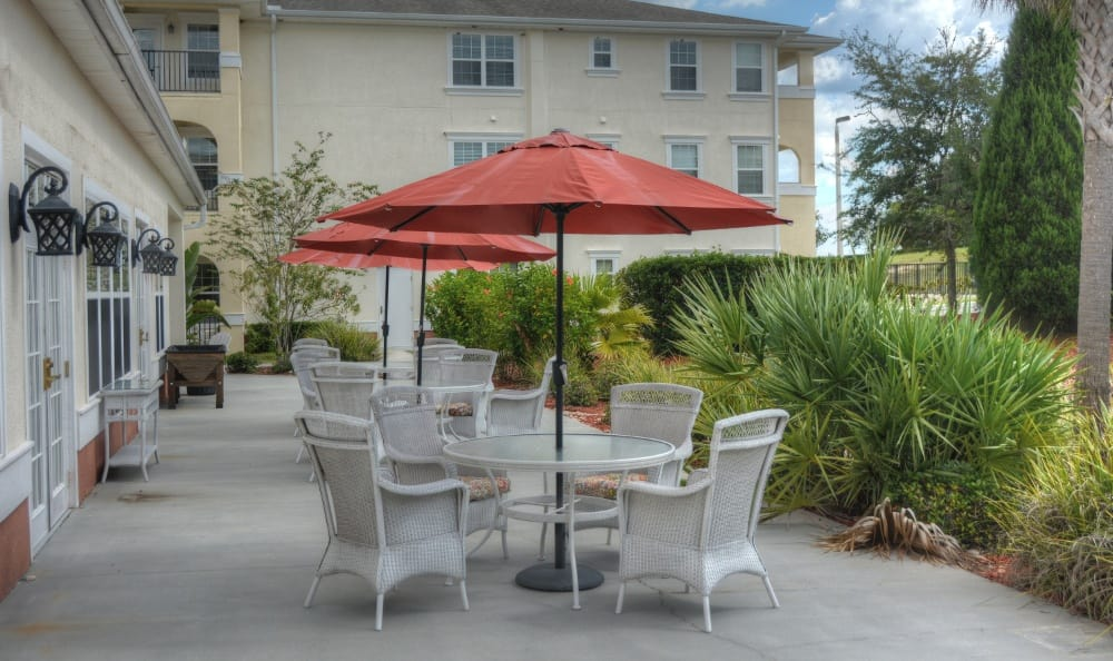Relax On The Patio At Senior Living In Zephyrhills, FL