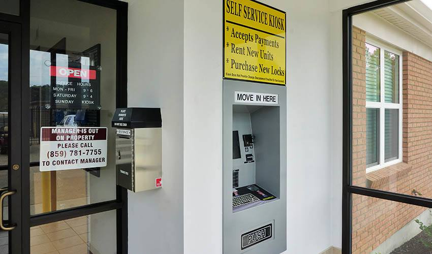 Self storage in Wilder offers kiosks to conveniently pay