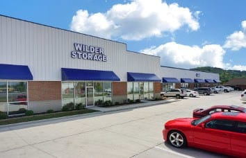 Self storage exterior facade in Wilder
