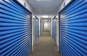 Interior self storage units in Wilder