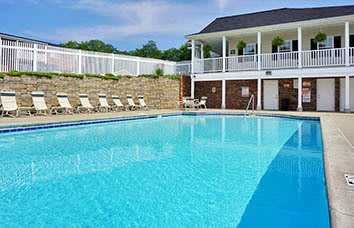 A pool at one of our many apartment properties available