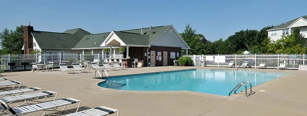 Sparkling pool at Charleston Pines Apartment Homes in Florence, KY
