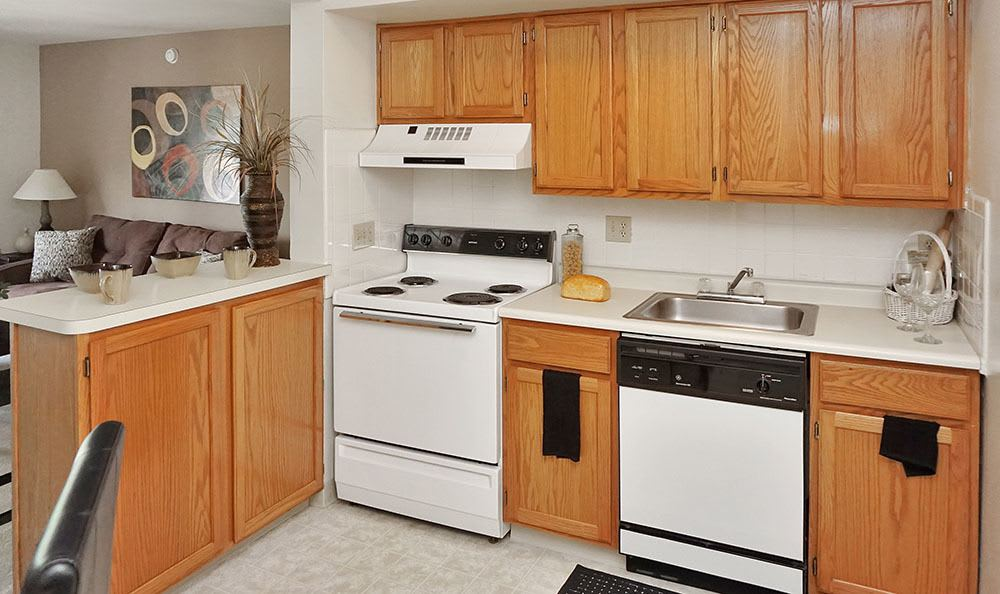 Modern Kitchens at Four Seasons Apartments in Erlanger, KY