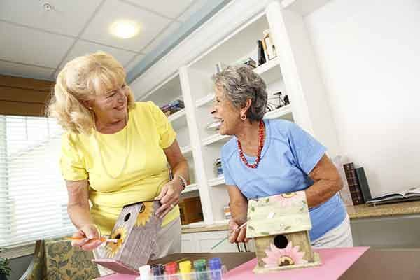Residents feeling the love with some painting at The Trace