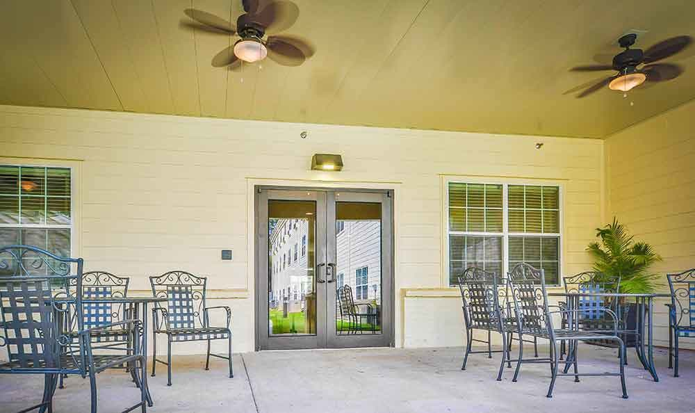 Patio At Our Senior Living Home In Covington