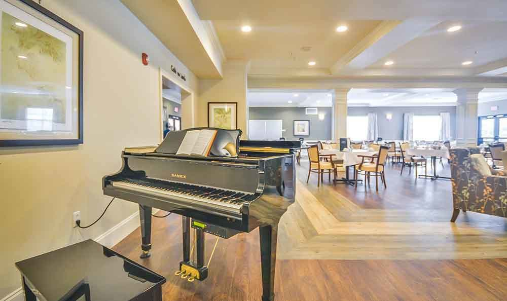 Piano At Our Senior Living Home In Covington