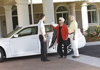 Chauffeured transportation at Delaware senior living community