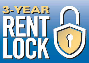 3 year price lock on your rent at The Summit