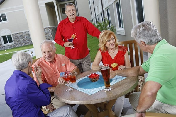Relax with friends at Blue Ridge Assisted Living