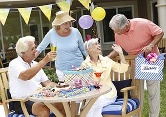 Enjoy friends and family at Aston Gardens At The Courtyards