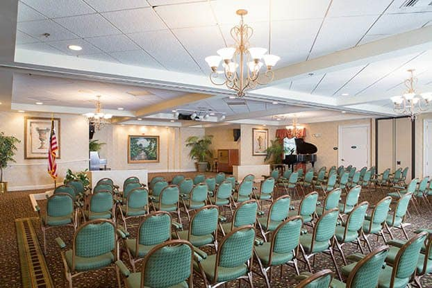 Senior living in Parkland features a ballroom