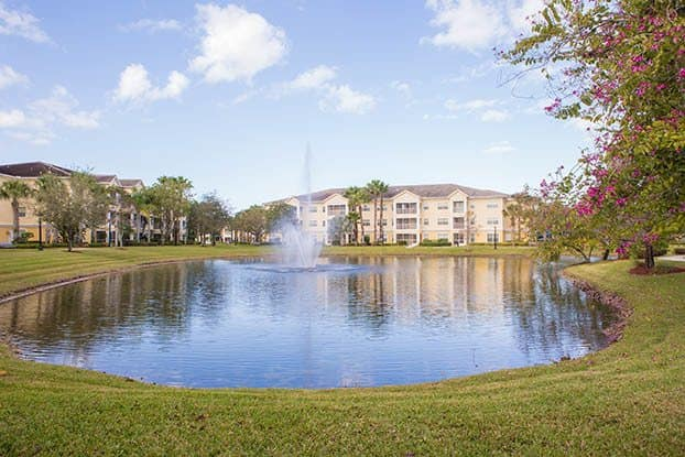 Our Parkland senior living community features a beautiful greenway to watch wildlife.