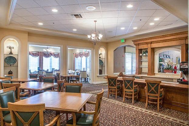 Relax with a nightcap in our lounge at Aston Gardens At Parkland Commons in Parkland, FL