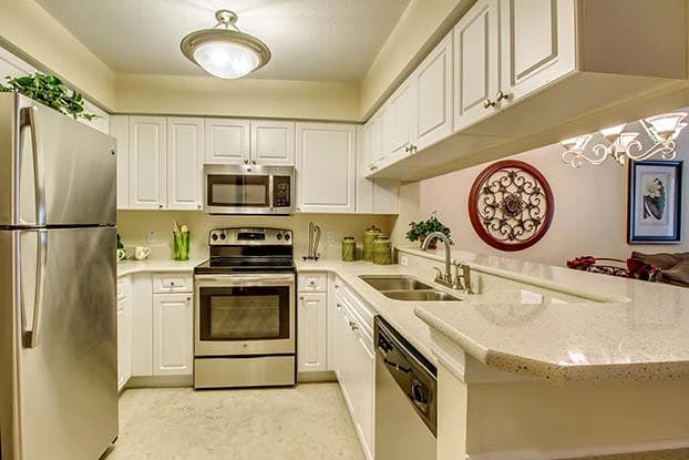 Senior living in Naples features beautiful kitchens