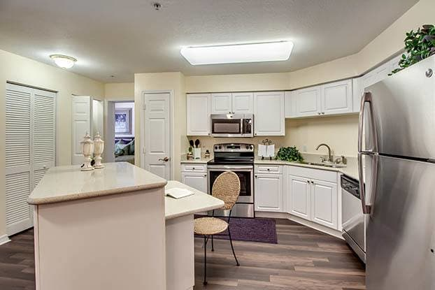Beautiful and spacious kitchens await you at Aston Gardens At Pelican Marsh in Naples, FL