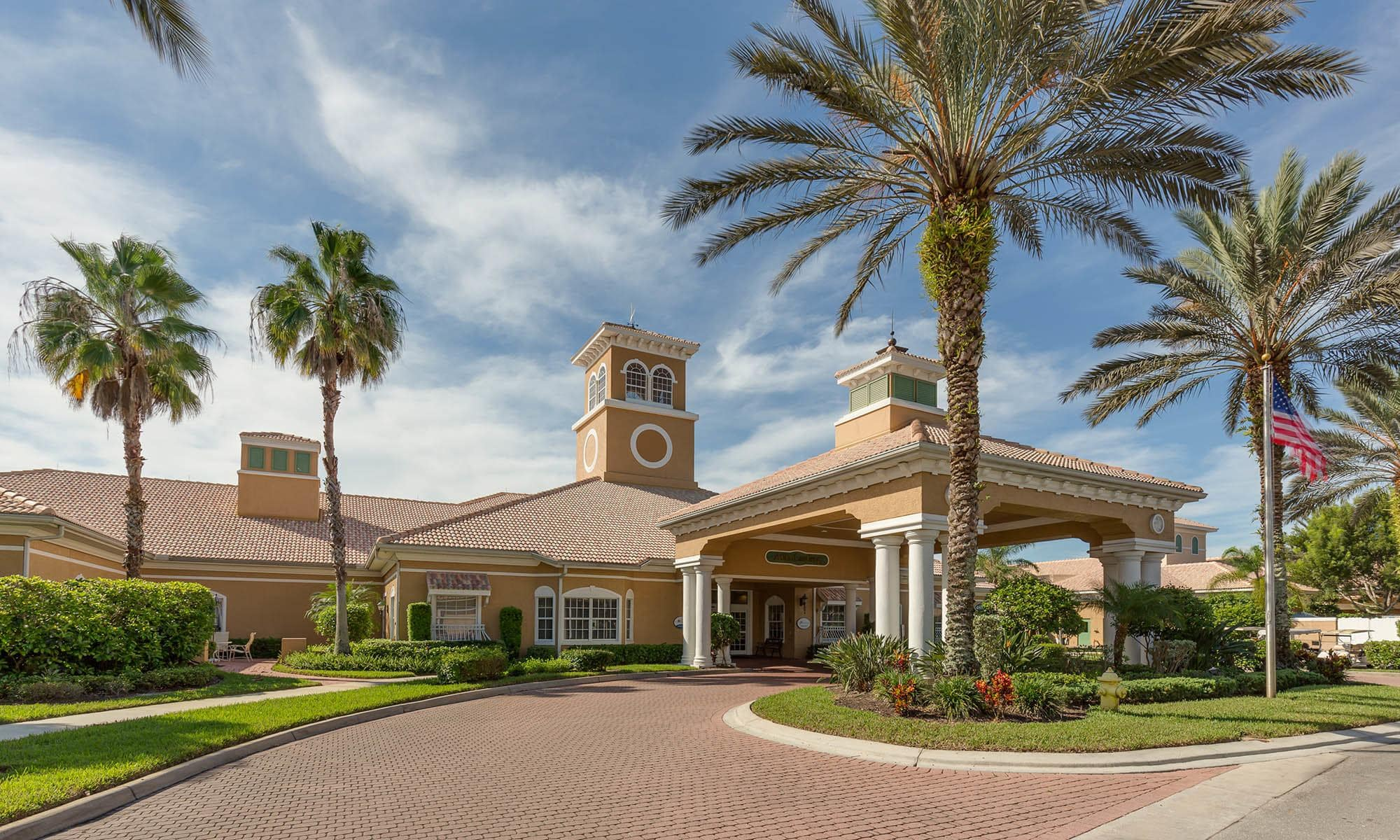 Naples senior living has a wonderful club house