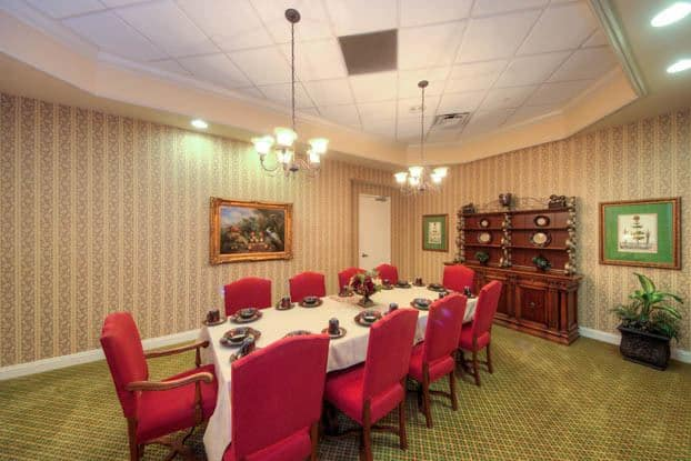Have family over for dinner in our banquet room