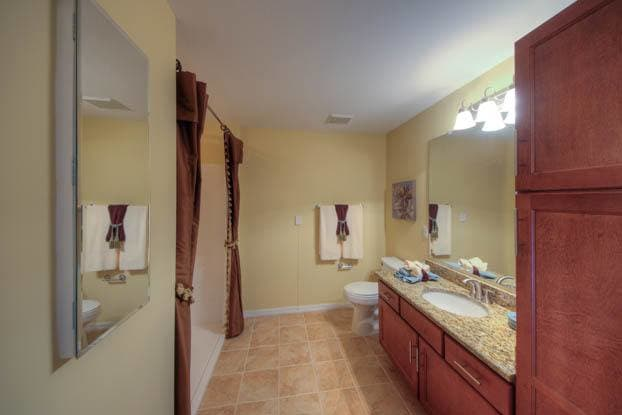 Our bathrooms are designed perfectly at Aston Gardens At Sun City Center in Sun City Center, FL