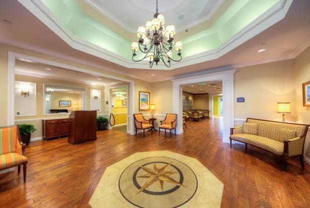 Senior living in Sun City Center with elegant wood floors