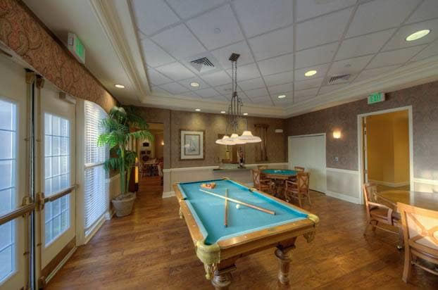Play a game of billiards with friends at Venice!