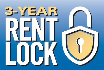 3 year rent lock