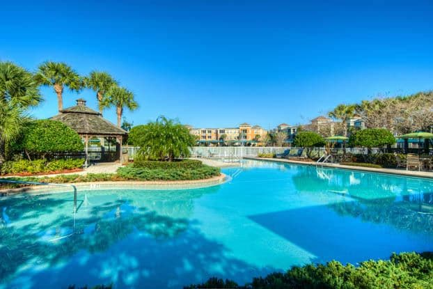 Take a swim in our beautiful heated pool at Aston Gardens At Tampa Bay