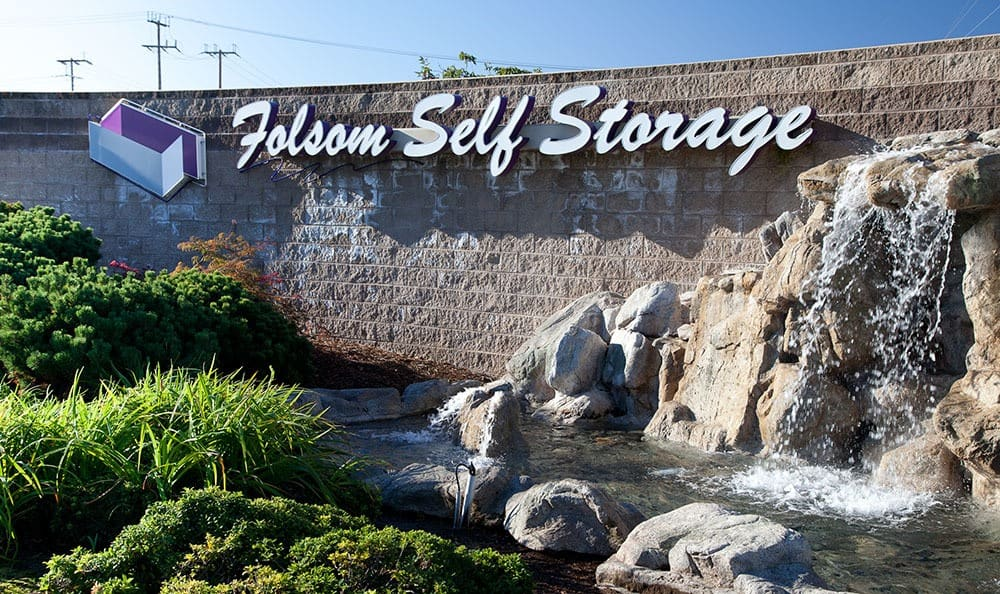 Self storage front sign at CA