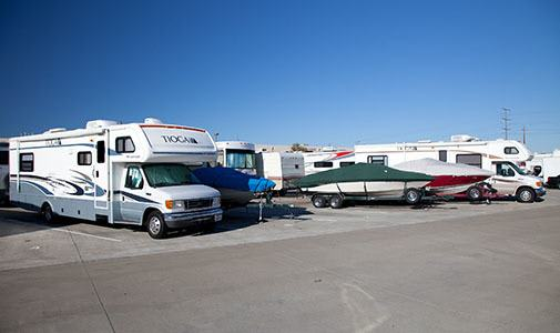 RV parking and storage at Laguna Self Storage