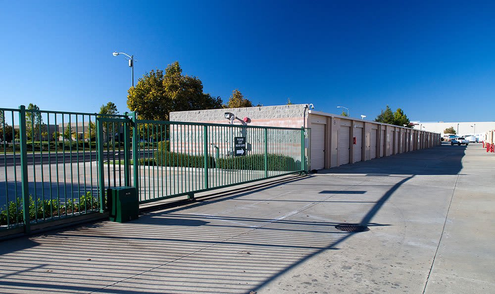 Gated access at self storage in Elk Grove