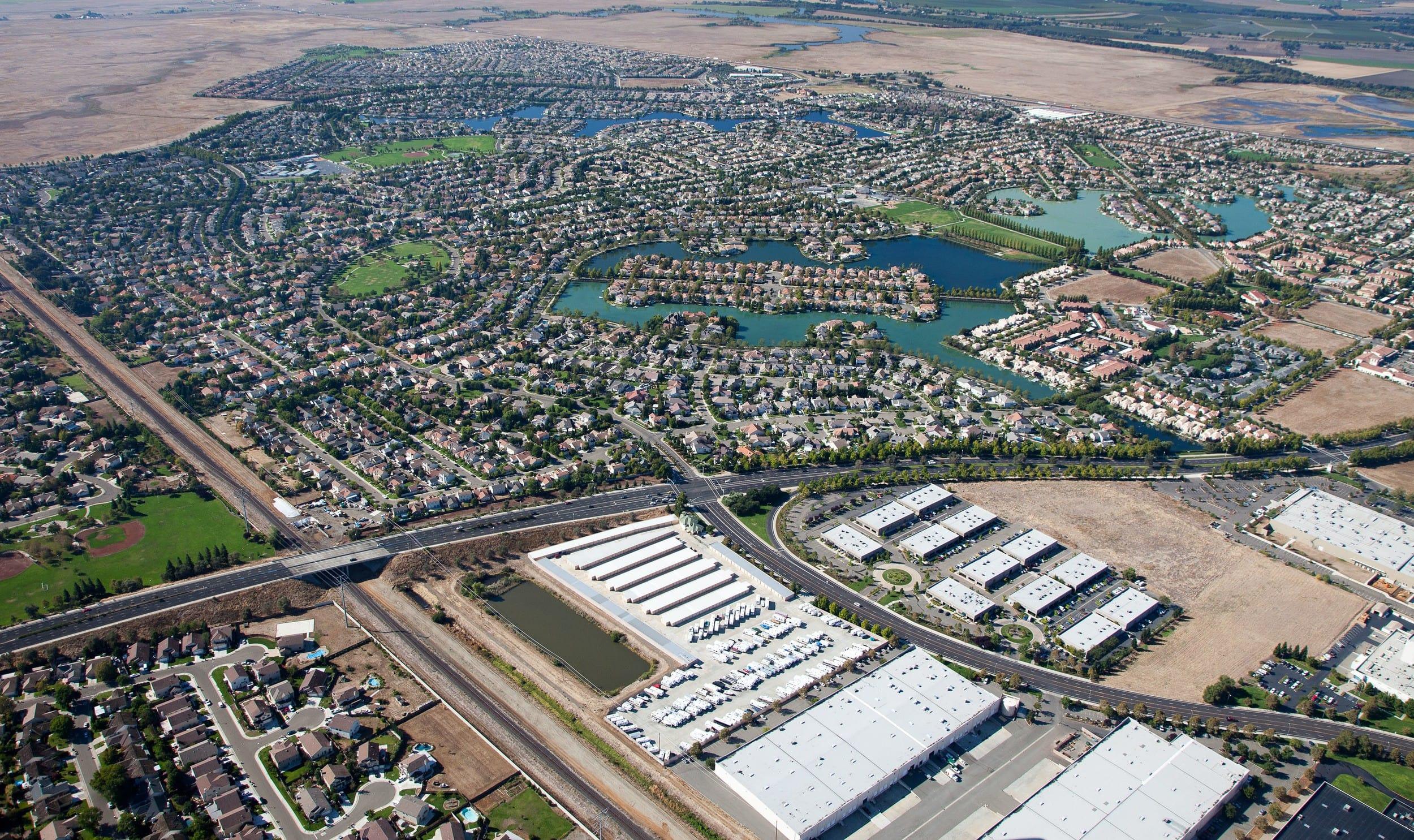 Aerial view at Laguna Self Storage