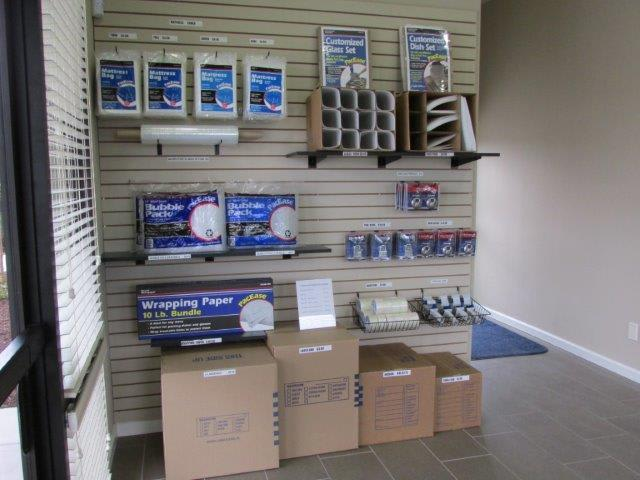 We sell moving supplies at