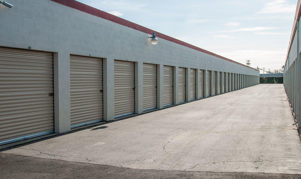 Outdoor storage units at Freeport Self Storage