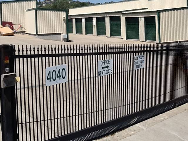 Electric Gate at the Self Storage facility in Cameron Park