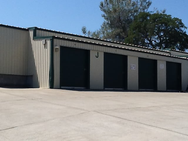 Exterior Units at the Self Storage facility in Cameron Park
