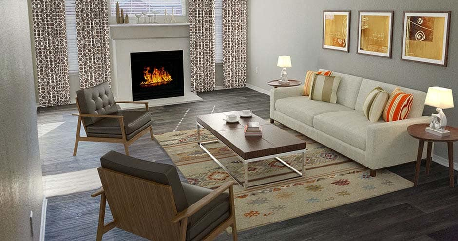 Beautiful apartments with a fireplace in Denver, CO