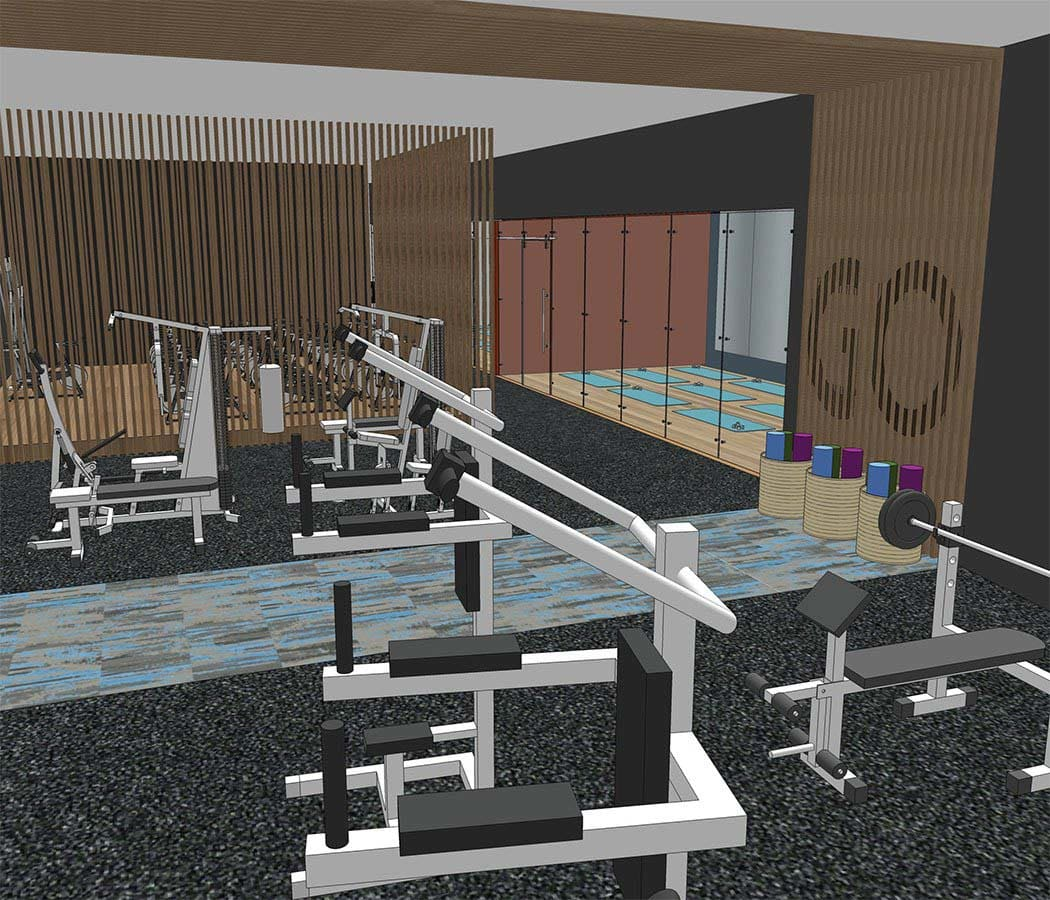 Gym at TAVA Waters