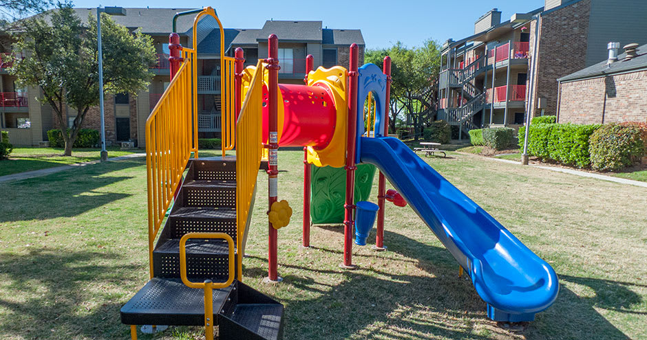 Beautiful playground at Promenade at Valley Ridge in Irving, TX