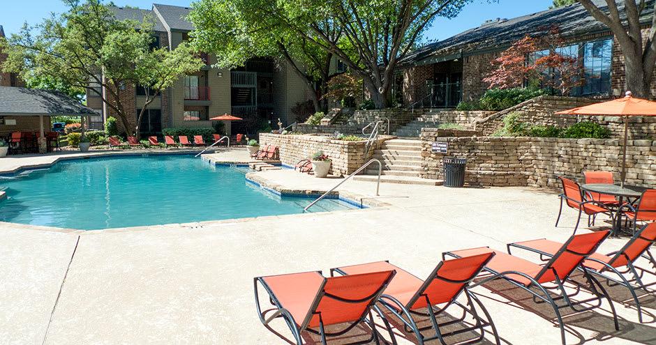 Swimming pool at Promenade at Valley Ridge in Irving, TX
