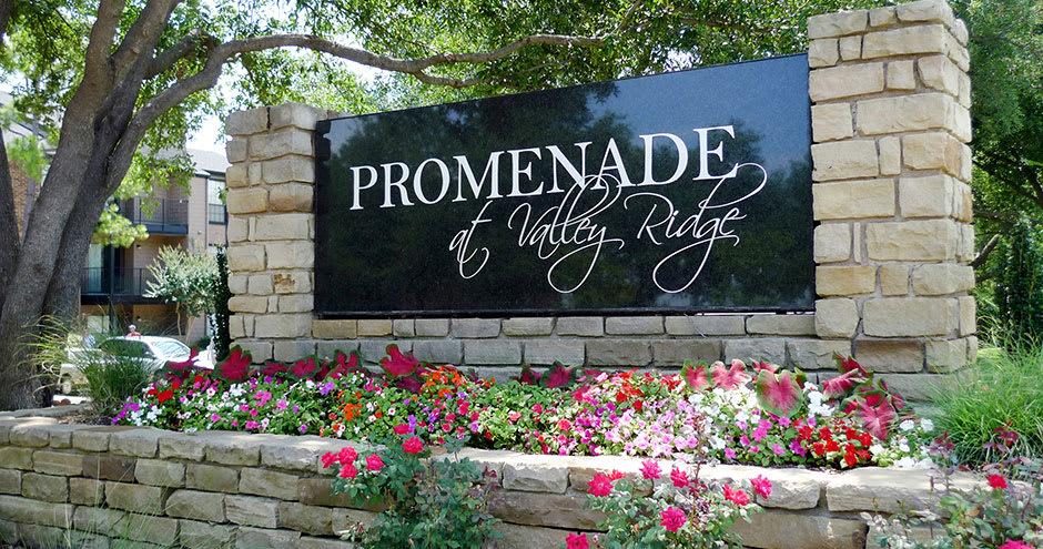 Beautiful entryway at Promenade at Valley Ridge in Irving, TX