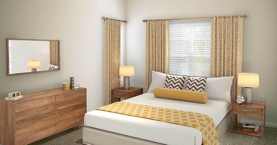 Bedroom at Stonecastle Apartments in Winter Park, FL