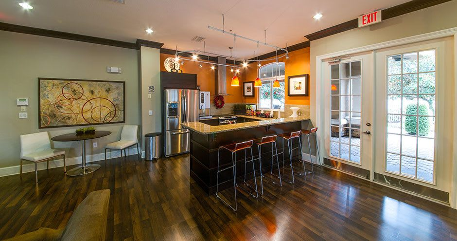 Luxury kitchen at Stonecastle Apartments in Winter Park, FL