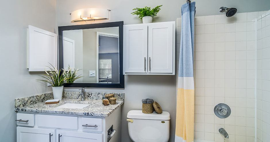 Beautiful bathroom at Windscape of Naperville Apartments in Naperville, IL