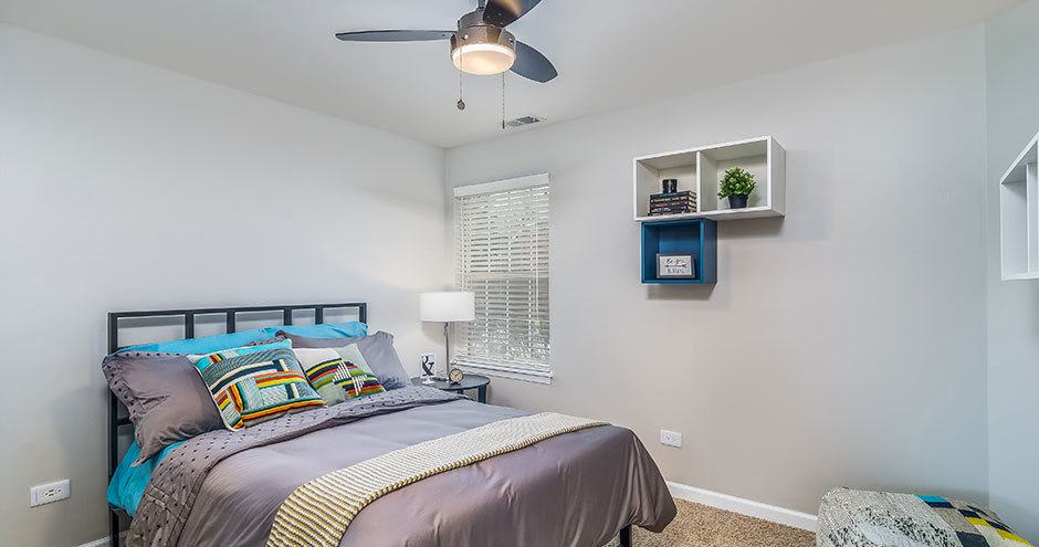 Beautiful bedroom at Windscape of Naperville Apartments in Naperville, IL